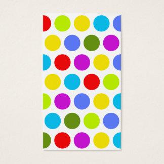Cartão De Visitas Bolinhas coloridas
