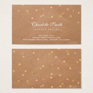 Cartão De Visitas Bolinhas modernas do ouro