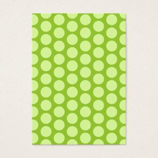 Cartão De Visitas Bolinhas verdes pálido