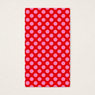 Cartão De Visitas Bolinhas vermelhas e cor-de-rosa