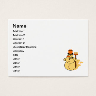 Cartão De Visitas Boneco de neve com uns desenhos animados da