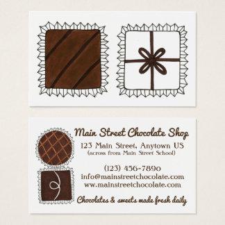 Cartão De Visitas Bons do Bon da loja de doces da loja do chocolate