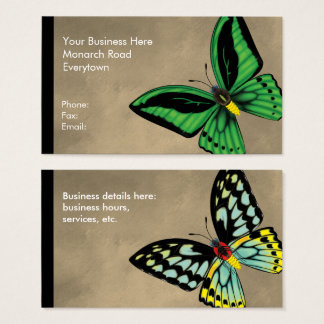Cartão De Visitas Borboleta de Birdwing dos montes de pedras dorsal
