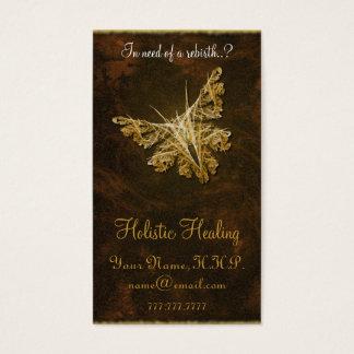 Cartão De Visitas Borboleta dourada (modelo 2) - cura holística