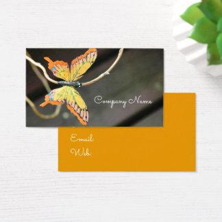 Cartão De Visitas Borboleta Vôo Desinsetar Inseto Natureza Empresa
