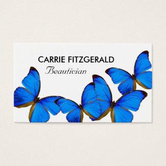 Cartão De Visitas Borboletas azuis, Beautician