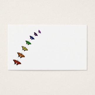 Cartão De Visitas Borboletas do chakra do arco-íris
