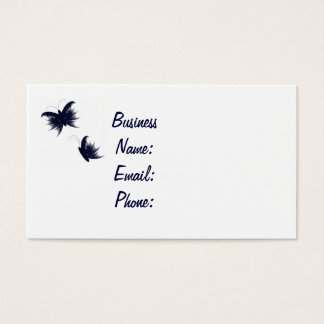 Cartão De Visitas borboletas feathery