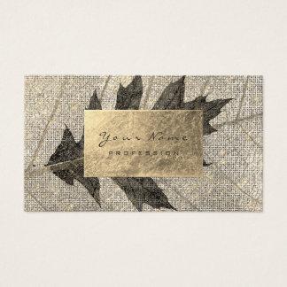 Cartão De Visitas Bordo preto botânico orgânico urbano da folha