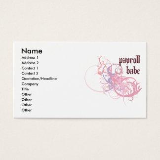 Cartão De Visitas Borracho da folha de pagamento