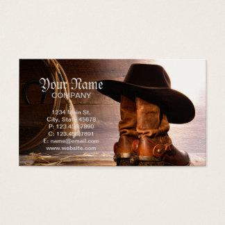 Cartão De Visitas Botas de equitação e chapéu de vaqueiro