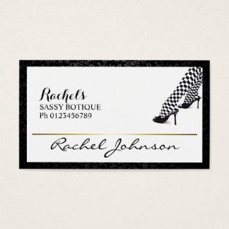 Cartão De Visitas Botique elegante original Sassy bonito