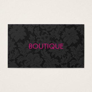 Cartão De Visitas Boutique cinzento escuro chique moderno do teste