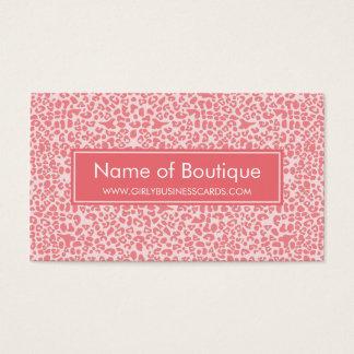 Cartão De Visitas Boutique cor-de-rosa coral moderno do impressão do