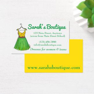 Cartão De Visitas Boutique da compra da roupa do Wardrobe do gancho