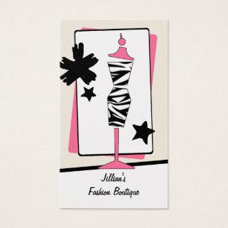 Cartão De Visitas Boutique da loja de roupa - formulário do vestido