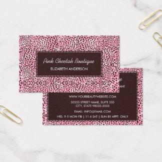 Cartão De Visitas Boutique feminino da beleza do impressão