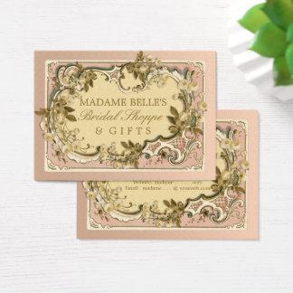 Cartão De Visitas Boutique nupcial dos rosas franceses cor-de-rosa