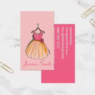 Cartão De Visitas Boutique retro da forma do estilista do vintage do