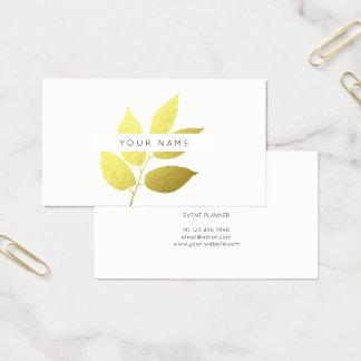 Cartão De Visitas Branco botânico do verde das hortaliças de Eco do