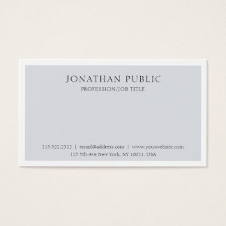 Cartão De Visitas Branco cinzento elegante limpo profissional