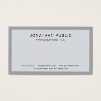 Cartão De Visitas Branco cinzento elegante lustroso profissional