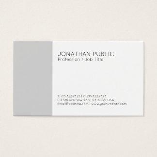 Cartão De Visitas Branco cinzento elegante moderno liso profissional