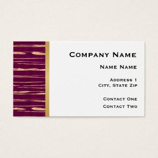 Cartão De Visitas Branco com linhas do marrom e do ouro e listra do