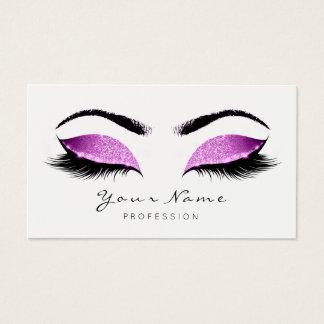 Cartão De Visitas Branco cor-de-rosa brilhante do preto do chicote