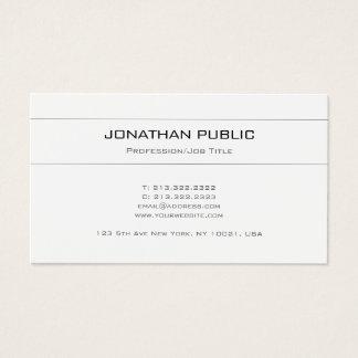 Cartão De Visitas Branco criativo elegante na moda do design de