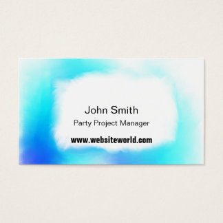 Cartão De Visitas Branco dos azuis e nuvens macias business/c de