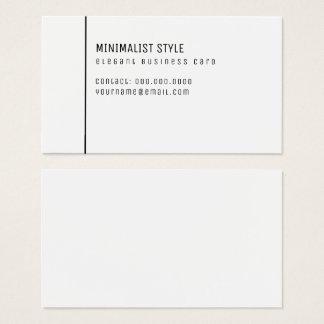 Cartão De Visitas branco elegante do estilo minimalista