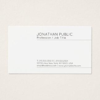 Cartão De Visitas Branco elegante liso moderno profissional