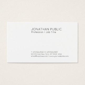 Cartão De Visitas Branco elegante moderno liso profissional