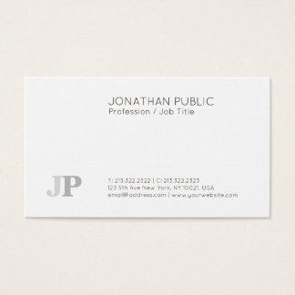 Cartão De Visitas Branco elegante moderno liso profissional do