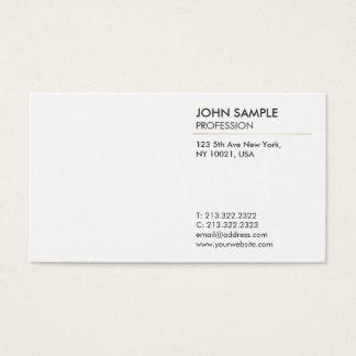 Cartão De Visitas Branco elegante profissional moderno liso mínimo