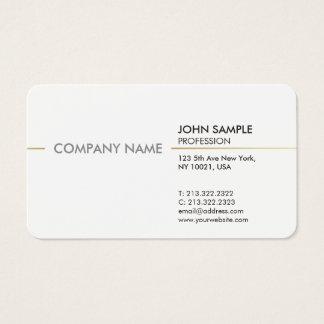Cartão De Visitas Branco elegante profissional moderno mínimo liso