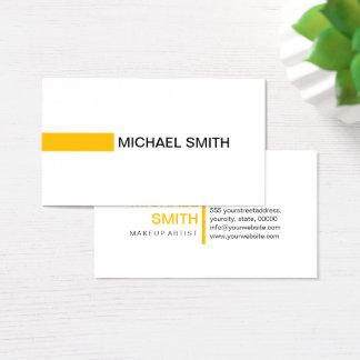 Cartão De Visitas Branco liso elegante ambarino moderno profissional