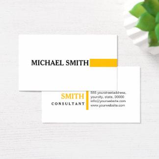 Cartão De Visitas Branco liso moderno ambarino elegante profissional