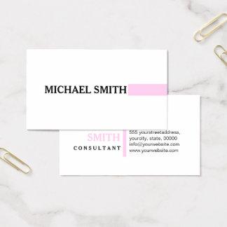 Cartão De Visitas Branco liso moderno do champô elegante