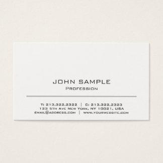 Cartão De Visitas Branco moderno de Minimalistic e cinzento
