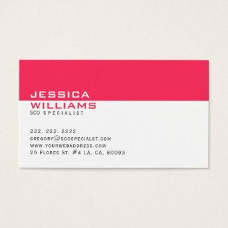 Cartão De Visitas Branco moderno elegante & profundamente -