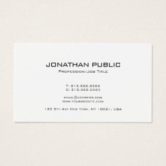 Cartão De Visitas Branco na moda do design minimalista à moda