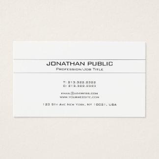 Cartão De Visitas Branco na moda do design minimalista criativo
