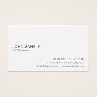 Cartão De Visitas Branco profissional liso lustroso elegante moderno
