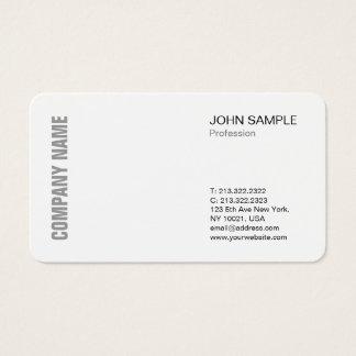 Cartão De Visitas Branco profissional moderno chique minimalista do