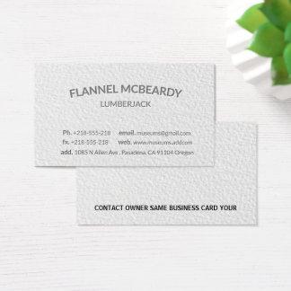 Cartão De Visitas Branco profissional moderno da tipografia