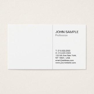 Cartão De Visitas Branco profissional moderno liso simples
