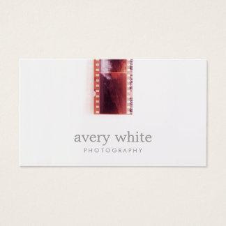 Cartão De Visitas Branco simples do filme legal da foto do vintage