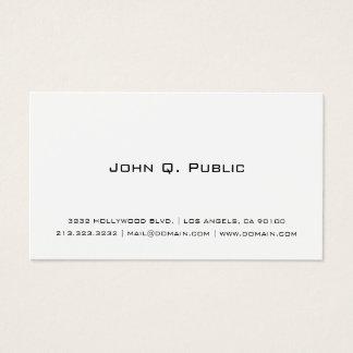 Cartão De Visitas Branco simples profissional